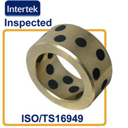 solid bronze bushing with graphite lubricating